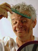 Dirty Senior Man Grooming