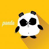 stock photo of panda bear  - panda bear vector illustration - JPG
