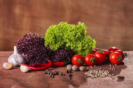 stock photo of food plant  - Fresh vegetables - JPG