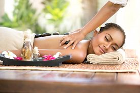 picture of stone-therapy  - Stone massage - JPG