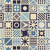 foto of quadrangles  - Square seamless pattern - JPG
