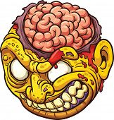 picture of gruesome  - Cartoon zombie head - JPG