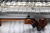 image of wind instrument  - Musical instruments close up - JPG