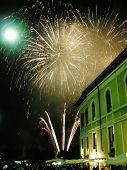 Blur Of Fireworks Como Italy