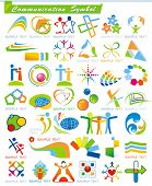 COLLECTION_4 of abstract Communication Symbols, vector business web icons. Set of colorful trade mar