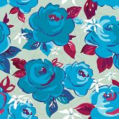 Elegance seamless floral pattern with flowers. Abstract design background, vector illustration