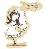 wedding - bride tossing bouquet behind her