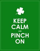 Keep Calm Banner For St. Patricks Day poster
