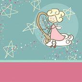 fairy playing harp