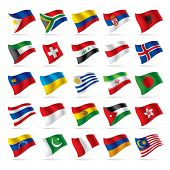 stock photo of flags world  - Vector set of world flags 3 - JPG