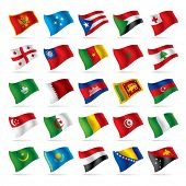 image of flags world  - Vector set of world flags 4 - JPG