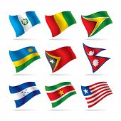 Vector set of world flags 9