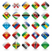 Vector set world flag icons 5
