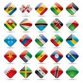 Raster version of vector set world flag icons 5