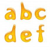 Versión raster de vector de la imagen de la letra minúscula del alfabeto
