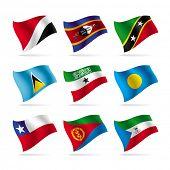 Vetor definido de bandeiras do mundo