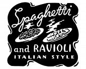 Spaghetti And Ravioli - Retro Ad Art Banner