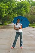 Beautiful Woman Holding Umbrella 2