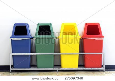 Bin Green Blue Yellow And