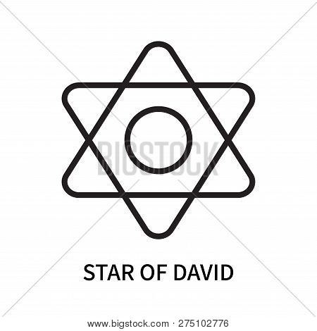 Star Of David Icon Isolated