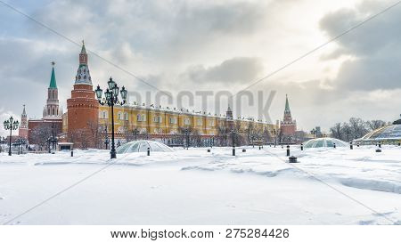 Moscow Kremlin And Manezhnaya Square