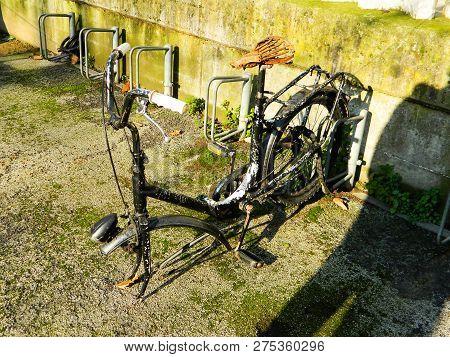 Old Broken Bike Old Vintage