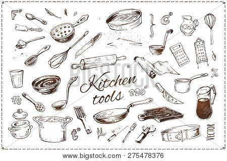 Hand Drawn Kitchenware Vector Icons