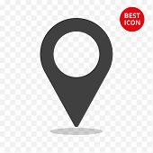 Icon Navigate Vector. Simple Web Locatio Concept. Vector Isolated Geo Navigator Symbol In Minimal St poster