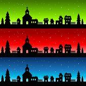Silhouette Christmas Village