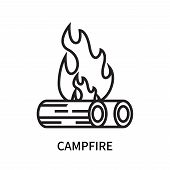 Campfire Icon Isolated On White Background. Campfire Icon Simple Sign. Campfire Icon Trendy And Mode poster