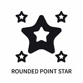 Rounded Point Star Icon Isolated On White Background. Rounded Point Star Icon Simple Sign. Rounded P poster