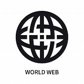 World Web Icon Isolated On White Background. World Web Icon Simple Sign. World Web Icon Trendy And M poster