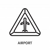 Airport Icon Isolated On White Background. Airport Icon Simple Sign. Airport Icon Trendy And Modern  poster