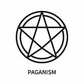 Paganism Icon Isolated On White Background. Paganism Icon Simple Sign. Paganism Icon Trendy And Mode poster