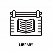 Library Icon Isolated On White Background. Library Icon Simple Sign. Library Icon Trendy And Modern  poster