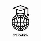 Education Icon Isolated On White Background. Education Icon Simple Sign. Education Icon Trendy And M poster