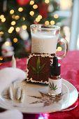 Christmas Marijuana Brownies. Marijuana Edible Brownies with milk for Santa Claus. Christmas Tree ou poster