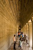 Tourists at Angkor Wat Temple, Cambodia