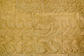 Hindu Gods pulling Vasuki
