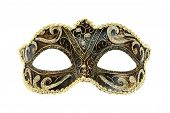 image of masquerade mask  - Carnival mask isolated on white background - JPG