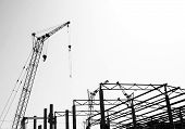 Silhouettes Of The Construction