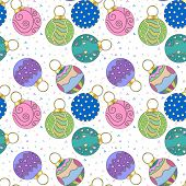 Christmas texture with baubles