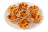 image of pasteis  - pasteis de nata on the white plate - JPG