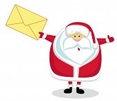 Santa Claus with mail