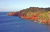 Maui Red Cliffs And Water