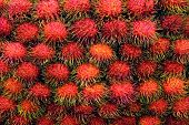 Rambutan Fresh, Rambutans Fruit Many For Background, Rambutan Sweet Delicious Fruit, Red Healthy Fru poster