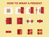 How To Wrap A Present Step-by-step Instruction poster
