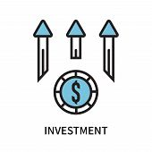 Investment Icon Isolated On White Background. Investment Icon Simple Sign. Investment Icon Trendy An poster