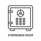 Strongbox Door Icon Isolated On White Background. Strongbox Door Icon Simple Sign. Strongbox Door Ic poster