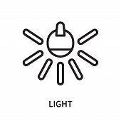 Light Icon Isolated On White Background. Light Icon Simple Sign. Light Icon Trendy And Modern Symbol poster